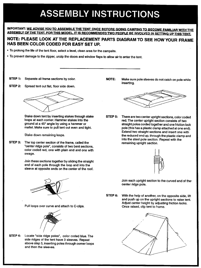 Hillary Tent Instructions An Exclusive Find